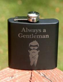 Whiskey Flask Bearded Gentleman