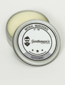 Peppermint scent beard balm