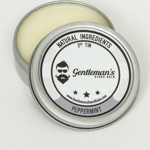 Peppermint scent beard balm